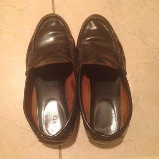 黒ローファー(ローファー/革靴)