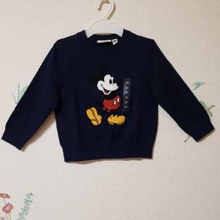 ディズニー(Disney)の新品 ミッキー セーター ユニクロ ディズニー キッズ 100 春 秋 冬(ニット)
