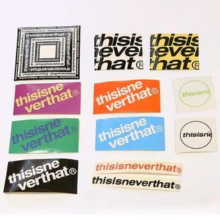 スタイルナンダ(STYLENANDA)のthisisneverthat ロゴ入りステッカー/1枚(印刷物)