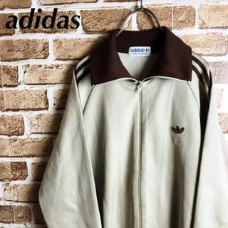 アディダス(adidas)のグッドカラー! 80s adidas トラックトップ ジャージ ロゴ ブラウン(ジャージ)