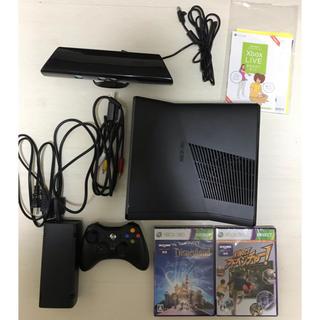 エックスボックス360(Xbox360)のXBOX360 本体 ゲームソフト2本(家庭用ゲーム本体)