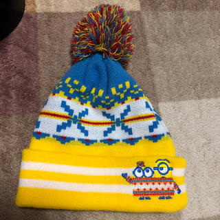 ミニオン(ミニオン)の琥珀様専用ミニオン ニット帽 キッズ USJ 美品(帽子)