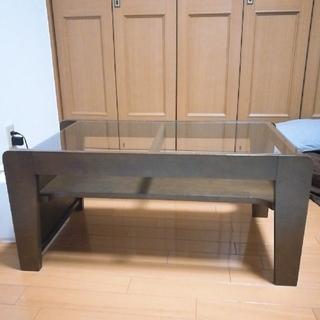 北欧モダン センターガラステーブル(ローテーブル)