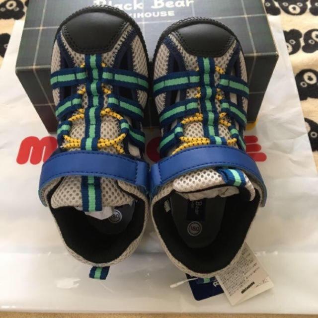 mikihouse(ミキハウス)の新品♡ミキハウス ブラックベア サマーシューズ  18.0 キッズ/ベビー/マタニティのキッズ靴/シューズ (15cm~)(サンダル)の商品写真