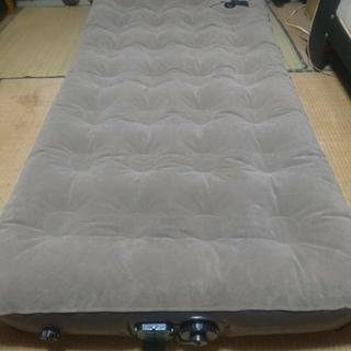テントファクトリー エアーベッド 乾電池式電動ポンプ内蔵 ブラウン(簡易ベッド/折りたたみベッド)