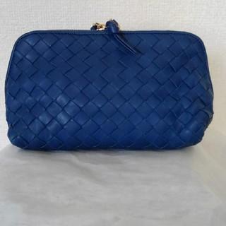 ボッテガヴェネタ(Bottega Veneta)のBOTTEGA VENETA◆ラムスキン コスメポーチ Blue(ポーチ)