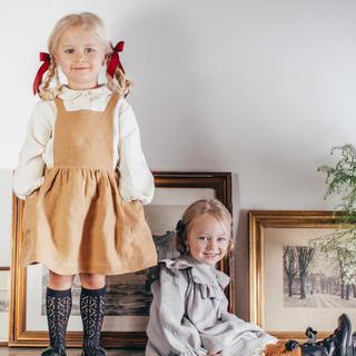 Caramel baby&child  - bebe organicエプロンワンピース3y