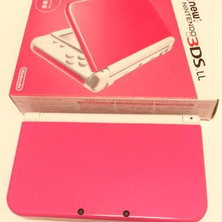 ニンテンドー3DS(ニンテンドー3DS)のnew ニンテンドー 3DS LL ピンク 本体+アダプター(携帯用ゲーム本体)