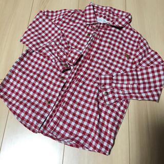 ザラ(ZARA)の【美品】zara baby チェックシャツ 2〜3歳 98センチ 赤(ブラウス)