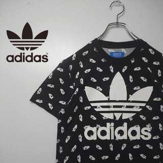 adidas originals スーパースター 柄 デカロゴ Tシャツ 355