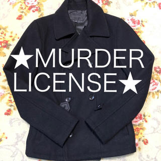 マーダーライセンス(Murder License)の★MurderLicense★ Pコート 黒 冬ものセール(ピーコート)