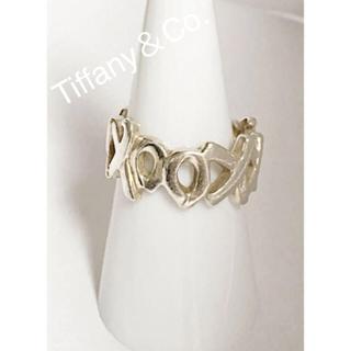 ティファニー(Tiffany & Co.)の★Tiffany & Co./ラブ&キスXO文字型⚫︎ワイドリング16.5号(リング(指輪))