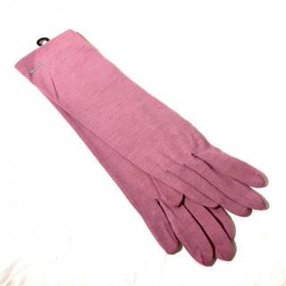 クロエ(Chloe)の新品 ブラウン シルバー ストーン  アームカバー 春夏秋冬 手袋(手袋)
