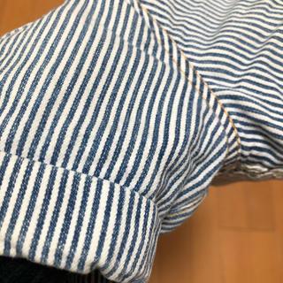 ジーユー(GU)の蛍光灯下撮影☆GUヒッコリーショートパンツ詳細画像(パンツ/スパッツ)
