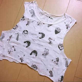 ジーユー(GU)の【送料無料♡限定】CAPTURE♡GU ノースリーブTシャツ♡(タンクトップ)