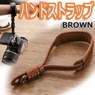 新品未開封 革製ハンドストラップ カメラ(ケース/バッグ)