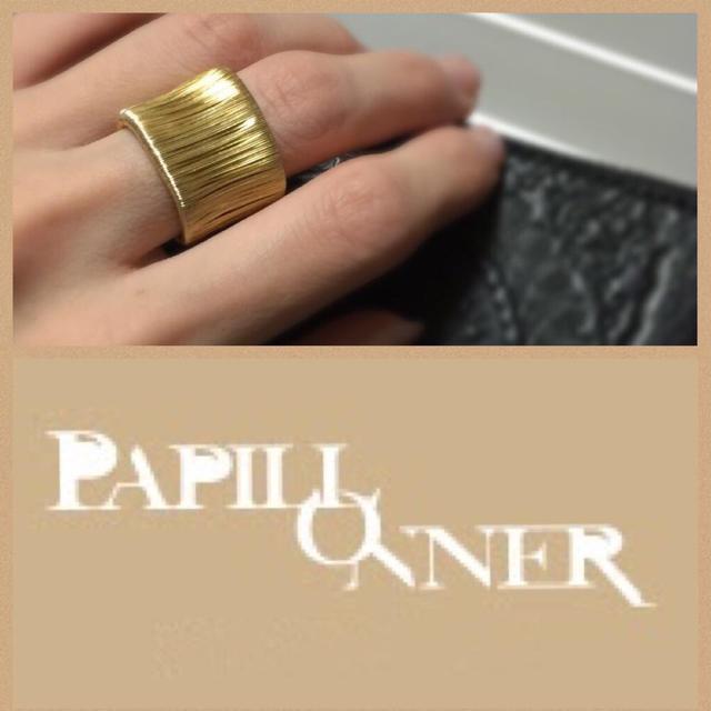 PAPILLONNER(パピヨネ)のパピヨネ ゴールドリング レディースのアクセサリー(リング(指輪))の商品写真