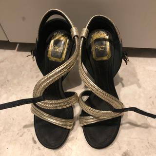 ディオール(Dior)のDior サテンパンプス ミュール サンダル(ハイヒール/パンプス)
