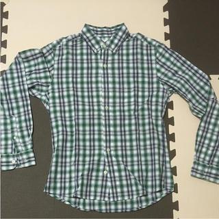 ジーユー(GU)のGU チェックシャツ メンズ S(シャツ)