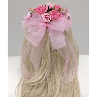 ヘッドドレス/前撮り/卒業式/成人式/ブライダル/髪飾り(ヘッドドレス/ドレス)