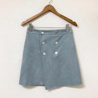 ZARA - ZARA BASIC 水色スエード素材 スカート S♡