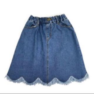 マーキーズ(MARKEY'S)のOcean&Ground デニム スカラップ スカート(スカート)