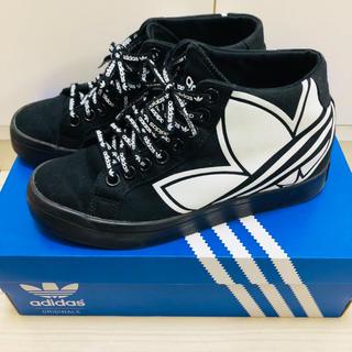 adidas - adidas インヒールスニーカー ブラック 24.0cm