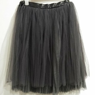 9ad49d44a88d8 ミラオーウェン(Mila Owen)のノスタルジア チュール スカート(ひざ丈スカート)