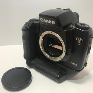 キヤノン(Canon)の★希少★CANON キャノン EOS 5 QD+グリップVG-10付き(フィルムカメラ)