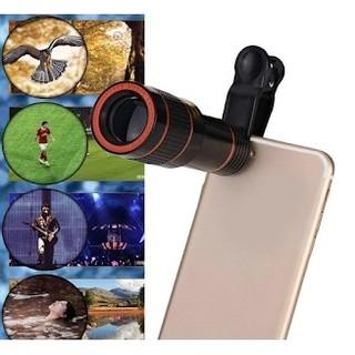 遠くでもはっきり綺麗♫12Xズーム HDスマホ望遠レンズ 電話クリップ望遠鏡(レンズ(ズーム))