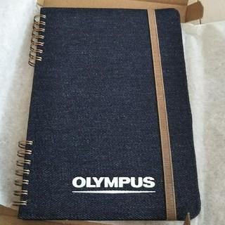 ムジルシリョウヒン(MUJI (無印良品))の非売品 OLYMPUS 布張りハードカバー リング方眼ノート A5サイズ(ノート/メモ帳/ふせん)
