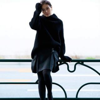 アトウ(ato)の【サユリン様専用】井川遥loin ロワン キルトスカート/Gray/36(ひざ丈スカート)