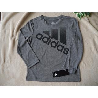 アディダス(adidas)のadidas kids  キッズ グレー ロンT  110(Tシャツ/カットソー)