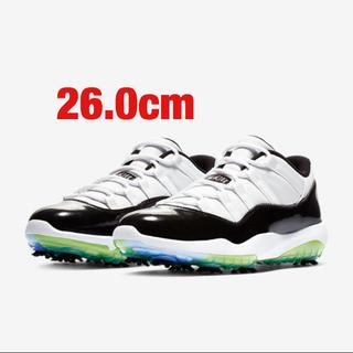 ナイキ(NIKE)のNIKE air jordan 11 low golf shose 26.0cm(シューズ)