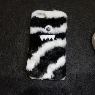 スマホカバー モンスター白黒 iPhone7/8用  702(スマホケース)