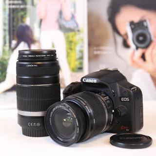 キヤノン(Canon)のCanon EOS Kiss X3 ダブルレンズ 美品 Wi-Fi対応 送料無料(デジタル一眼)