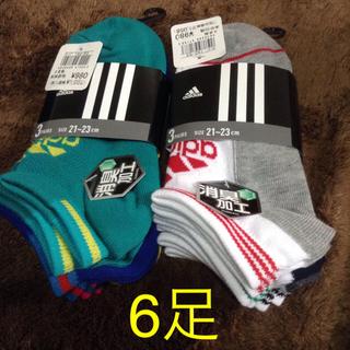 アディダス(adidas)の21〜23 6足 アディダス 靴下(靴下/タイツ)