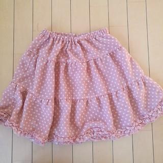 GU - ギャザースカート150ピンク