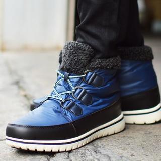 【新品】スノーブーツ メンズ 防水 防寒 レイン ブーツ 防滑(長靴/レインシューズ)