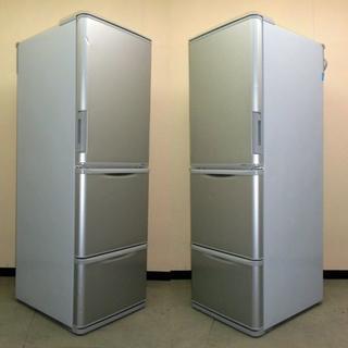 送料無料★シャープ「どっちもドア」3ドア冷蔵庫350L(8R10159)(冷蔵庫)