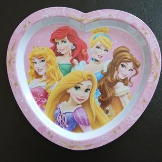 ディズニー(Disney)のDisney プリンセス ハート形ラメプレート かわいい食器(プレート/茶碗)