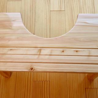 トイレトレーニング 踏み台 離乳食 テーブル 無垢 ヒノキ トイトレ(補助便座)
