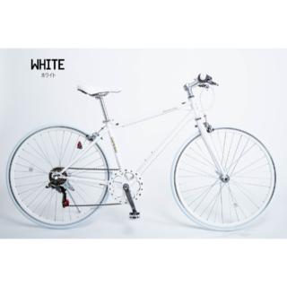 新品★送料無料 クロスバイク シマノ6段ギア 700×28c ホワイト(自転車本体)