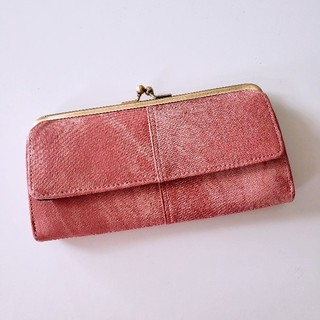 キートス(KiiTOS)の長財布 レディース がま口 デニム風 合皮(財布)
