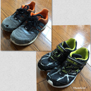 アディダス(adidas)の男の子 スニーカー 上履き セット(スニーカー)
