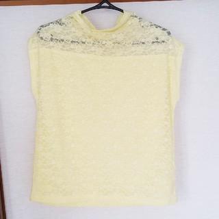 ジーユー(GU)のネックレースカットソー(Tシャツ(半袖/袖なし))