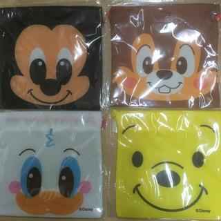 ディズニー(Disney)のディズニー キャラクターフェイス巾着 4点セット(その他)