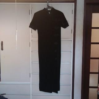 チャイナドレス11号 黒(ロングドレス)