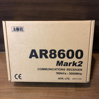 エーオーアール(aor)の【新品・未開封】AOR AR8600MARK2 広帯域受信機(アマチュア無線)