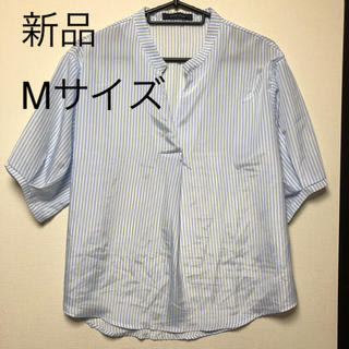 シマムラ(しまむら)のストライプシャツ(シャツ/ブラウス(半袖/袖なし))